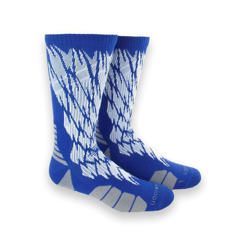 adidas traxion impact shockweb crew socks blue white onix grey 5138631 basketball sock sale closeout