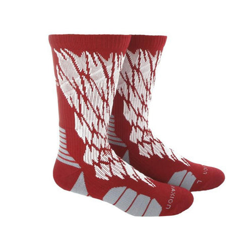 adidas traxion impact shockweb crew socks red white onix grey 5138540 basketball sock sale closeout