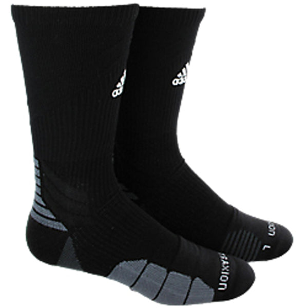 adidas traxion menace crew socks black white onix grey 5138489 basketball sock sale closeout