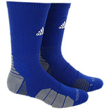 adidas traxion menace crew socks bold blue white onix grey 5138492 basketball sock sale closeout