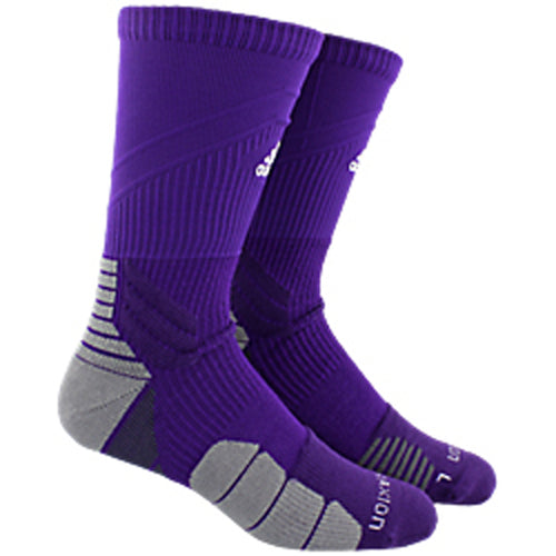 adidas traxion menace crew socks purple white onix grey 5138587 basketball sock sale closeout