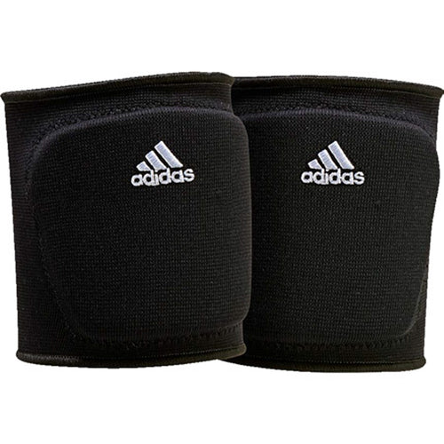 "adidas 5 inch volleyball knee pad black white s98577 adult womens 5"" 5in 5-inch kp"