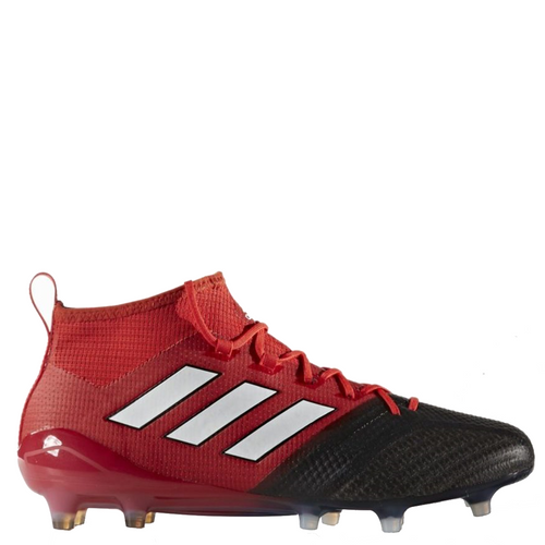 adidas ace 17.1 primeknit fg bb4316 red black white soccer cleat