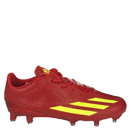 adidas adizero 5-star 6.0 low pro bowl edition football cleats red solar yellow cg4250 rare exclusive mens 5 star sale closeout