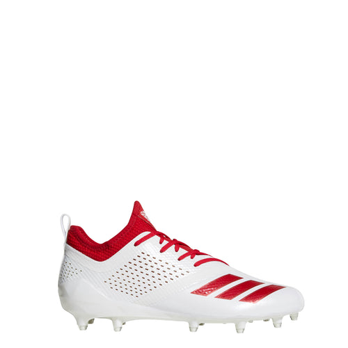 adidas adizero 5-star 7.0 low football cleats white power red cq0321 mens cleat