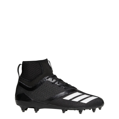 adidas adizero 5-star 7.0 sk football cleats black white b27977 mens sock fit sock-fit cleat