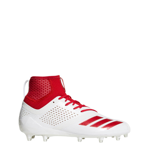 adidas adizero 5-star 7.0 sk football cleats white power red da9562 mens sock fit sock-fit cleat