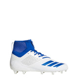 adidas adizero 5-star 7.0 sk football cleats white collegiate royal blue da9563 mens sock fit sock-fit cleat