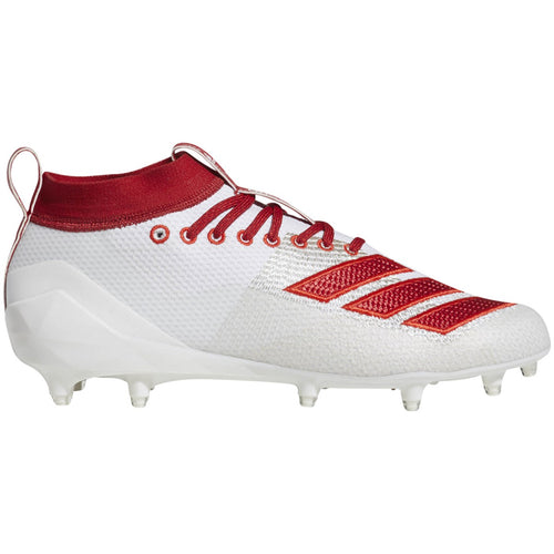 adidas adizero 5-star 8.0 low football cleat white red scarlet d97028 men men men's 2019 5 star football cleats