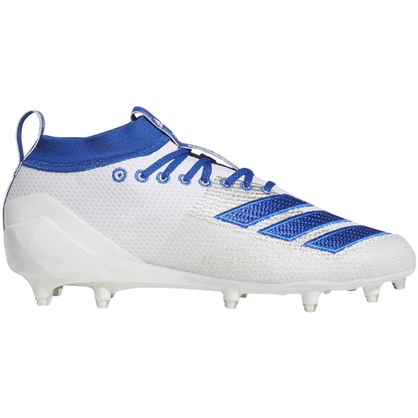 adidas adizero 5-star 8.0 low football cleat white royal blue f35183 men men men's 2019 5 star football cleats