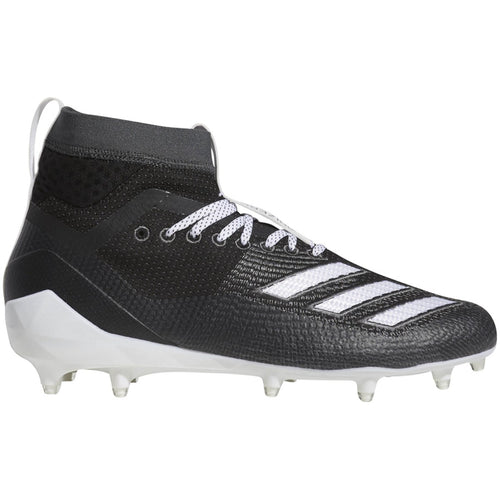 adidas adizero 5-star 8.0 sk mid football cleat black white grey d97642 men men men's 2019 5 star 8 sock sockfit sock fit football cleats
