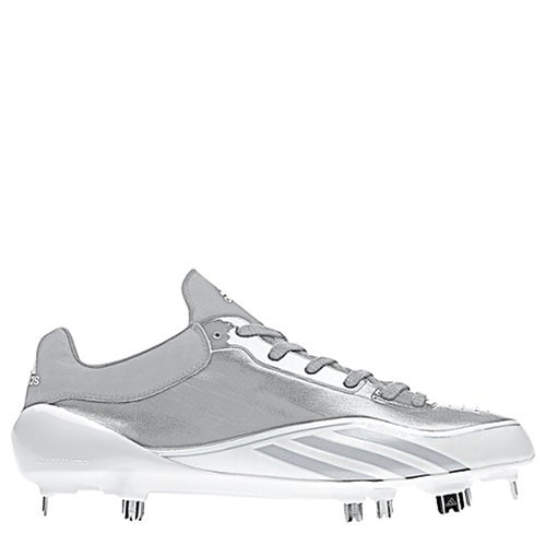 adidas men's adizero 5-tool 5 tool metal baseball cleats stone grey silver white g48343 sale closeout size 12