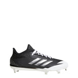 adidas adizero afterburner 4 metal baseball cleats black silver white cg4782 men's mens cleat