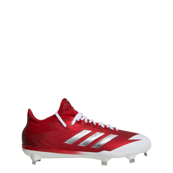 adidas adizero afterburner 4 metal baseball cleats power red silver white cg4783 men's mens cleat