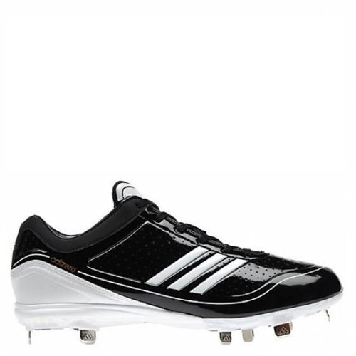adidas men's adizero diamond king low metal baseball cleats black white g24748 sale closeout