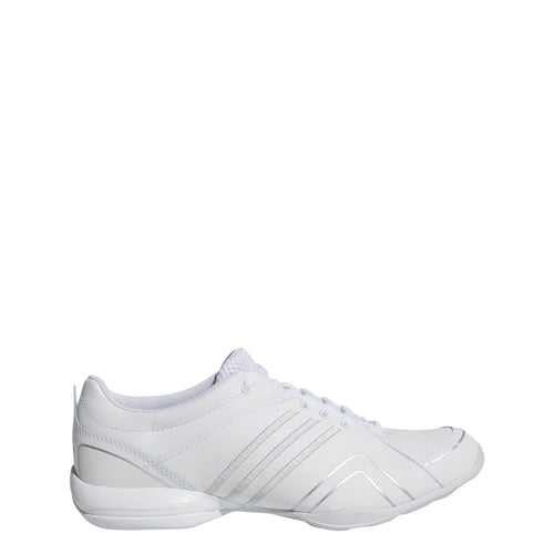 adidas cheer flyer cheerleading tumbling shoes white silver grey g07909 women womens women's cheer tumble shoe