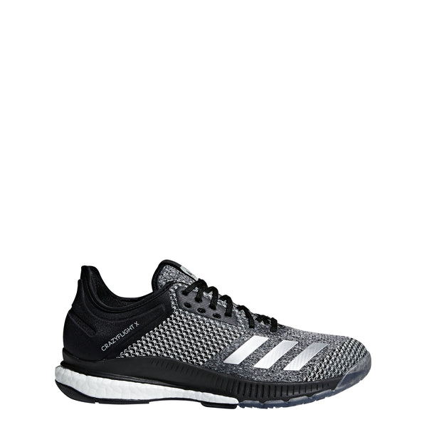 newest 50238 02b40 adidas crazyflight x 2 womens volleyball shoe black silver white cp8900  women shoes