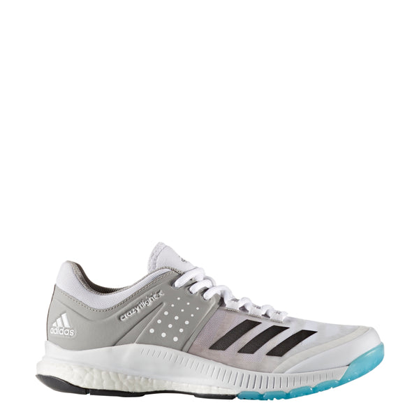 best authentic 9392c eb145 adidas womens crazyflight x volleyball shoes white night grey gray ba9266 women  women boost crazy flight