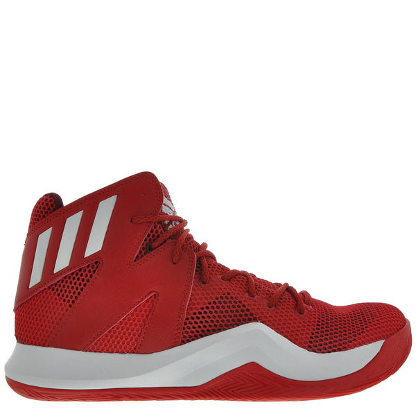 b700331c584 adidas crazy bounce scarlet red white burgundy mens basketball shoes b72768  sale closeout