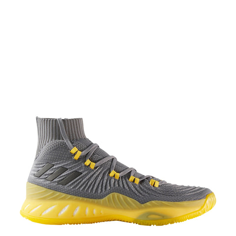 adidas crazy explosive 2017 primeknit pk grey black yellow gray basketball shoe shoes cq1396