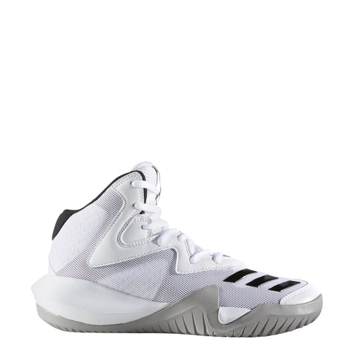 adidas crazy team kids basketball shoes white black grey gray bw1343 kid boy girl girls boys youth basketball shoe