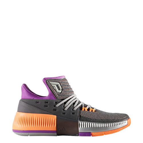 adidas dame 3 all star basketball shoes grey purple orange white gray bb8270 all-star men's mens men sale closeout shoe