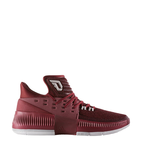 adidas dame 3 maroon d lillard basketball shoe by3195