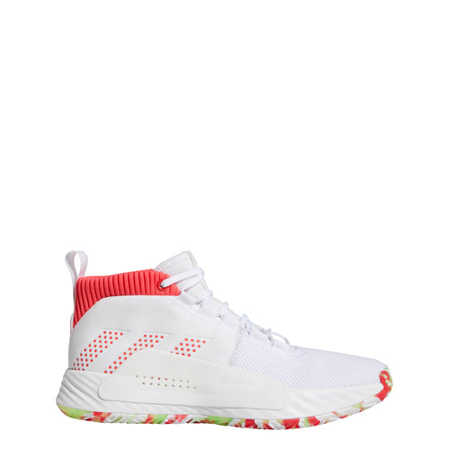 adidas dame 5 basketball shoe white red green multi multicolored multi-color bb9312 2019 damien lillard men mens shoes