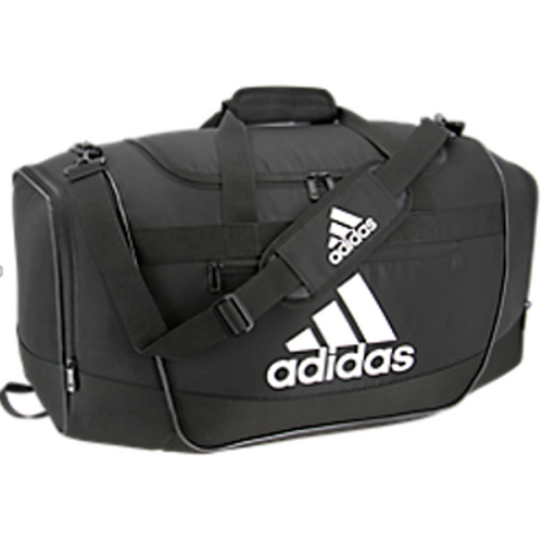 adidas defender iii duffel bag medium black white 5144011 soccer volleyball basketball team travel bags