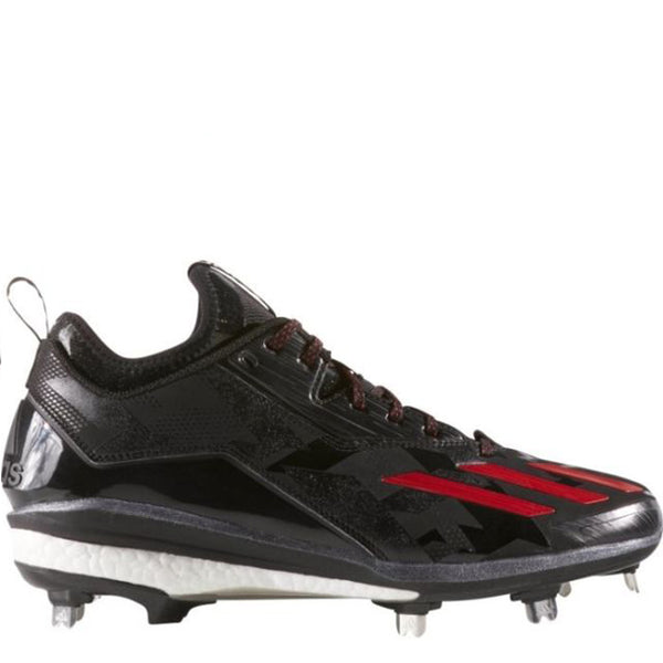 adidas energy boost icon 2 men's metal baseball cleats black power red silver q16525 sale closeout