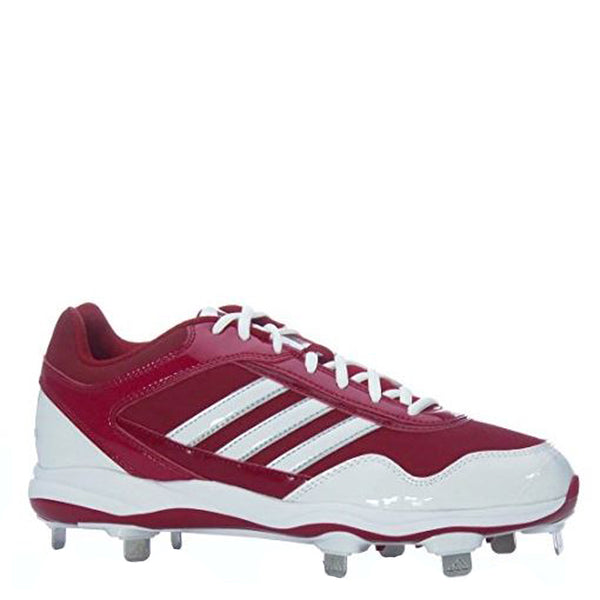 adidas men's excelsior pro metal low metal baseball cleats scarlet red white g59120 sale closeout