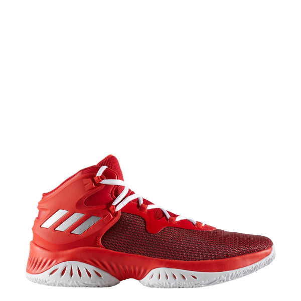 adidas explosive bounce men's basketball shoes red scarlet silver white by3777 men mens shoe sale clearance closeout