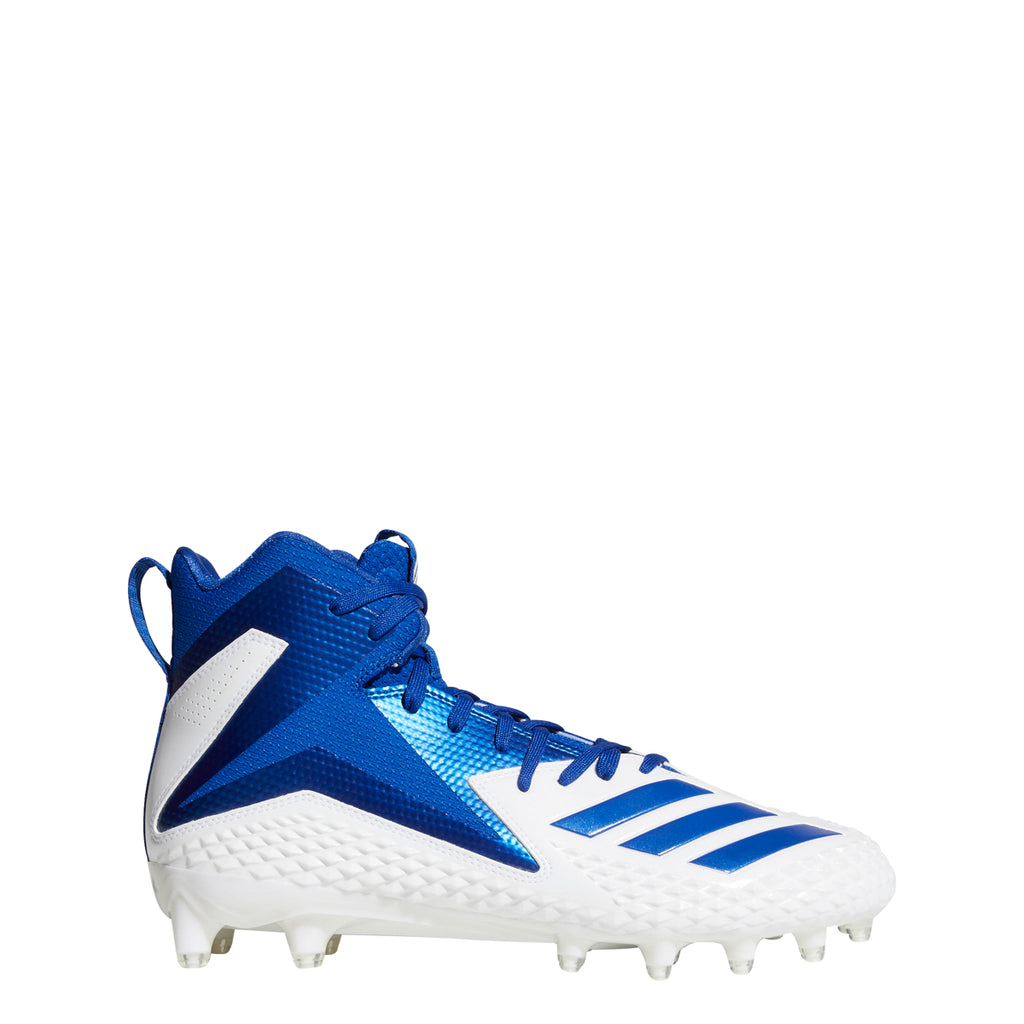 018456bb8 Adidas Men's Freak X Carbon Mid Football Cleats - White / Royal Blue - –  Kratz Sporting Goods