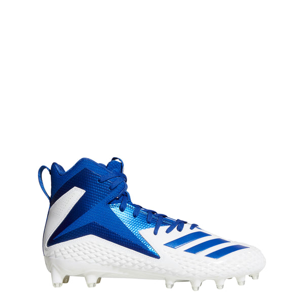 new product be458 5c61e adidas freak x carbon mid football cleats white royal blue db0566 mens cleat