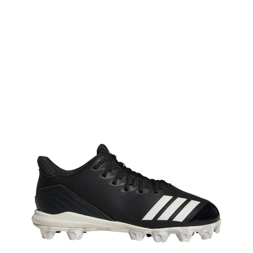 adidas icon 4 molded kids baseball cleat black white carbon cg5262 2019 kid youth baseball softball t-ball tee ball cleats
