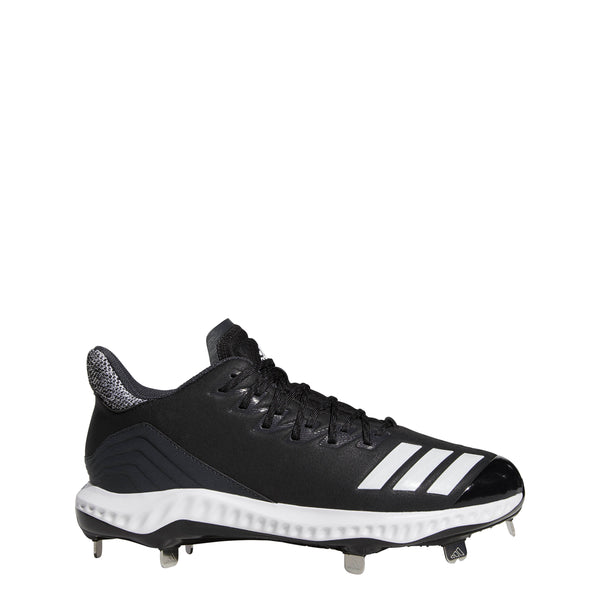 adidas icon bounce low metal baseball cleat black white carbon cg5241 2019 mens men's men low-cut metal baseball cleats