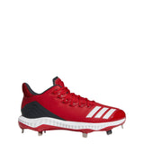 adidas icon bounce low metal baseball cleat power red white black carbon cg5242 2019 mens men's men low-cut metal baseball cleats