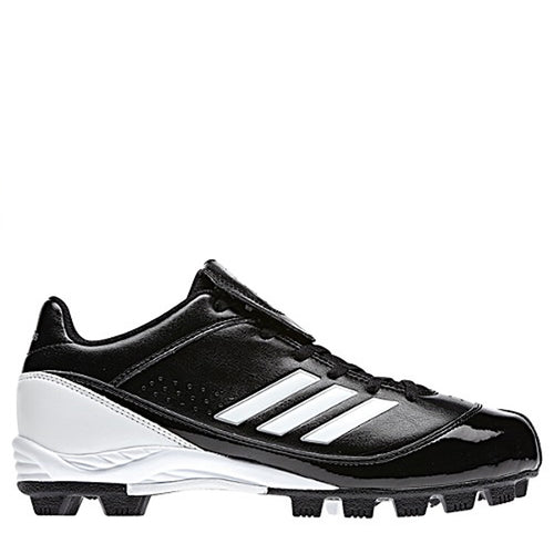 adidas women's monica md low molded softball cleats black white g48828 sale closeout
