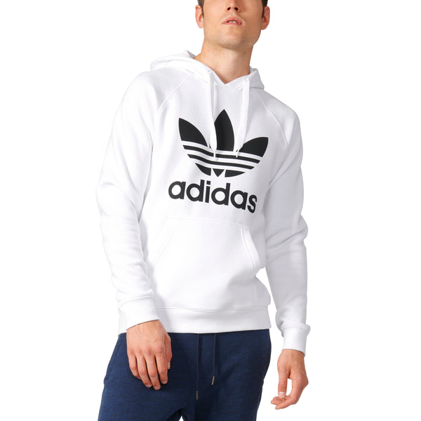 Adidas Originals Men's Trefoil 3 Foil Hoodie White Black AY6474