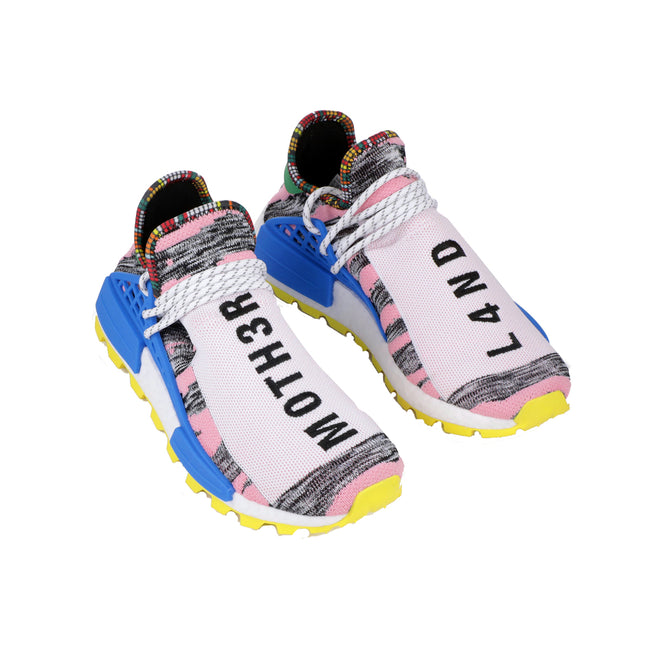 adidas pharrell williams pw solar hu nmd shoe mother land moth3r white pink yellow black grey blue bb9531 men mens human race shoes 2018 rare collectible limited edition
