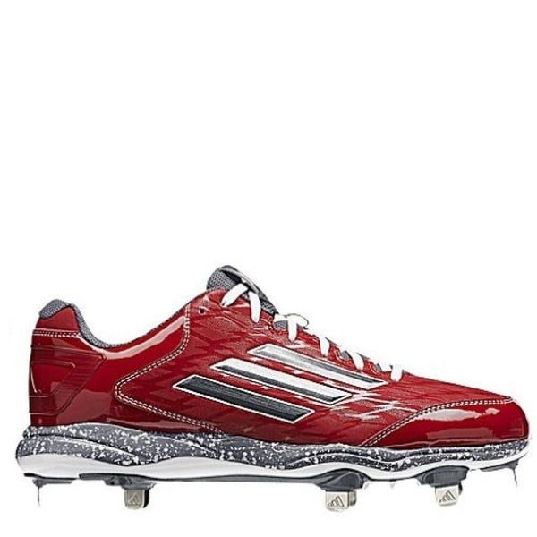 adidas men's poweralley power alley 2 metal baseball cleats red carbon onix grey d74068 sale closeout size 13