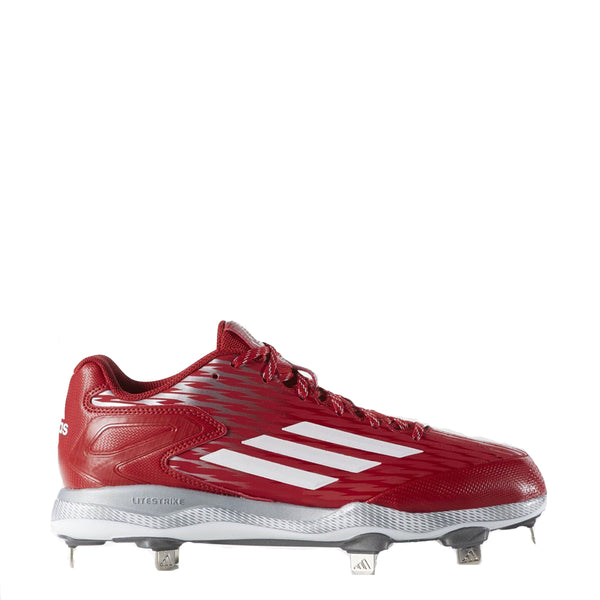 adidas men's poweralley 3 metal baseball cleats red white grey s84760 power alley sale closeout