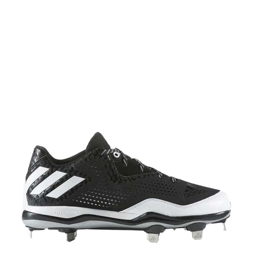 cfde1ed35 adidas men s poweralley 4 metal baseball cleats black white silver q16481  power alley sale closeout