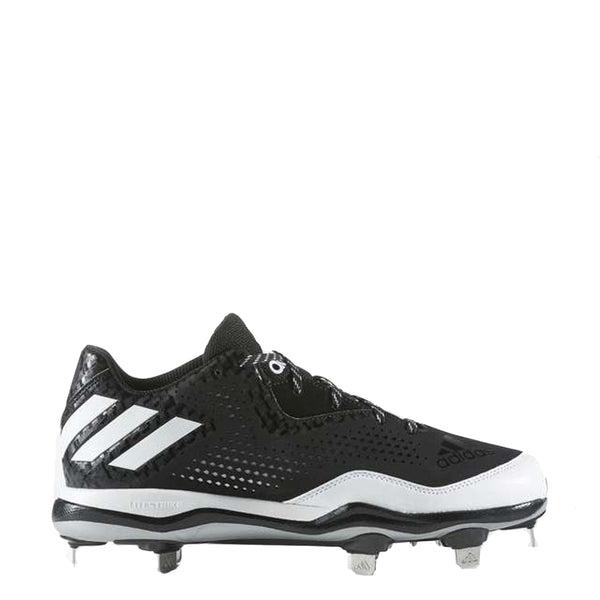adidas men's poweralley 4 metal baseball cleats black white silver q16481 power alley sale closeout