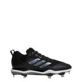 adidas poweralley 5 metal baseball cleats black silver white b39181 men's mens power alley cleat