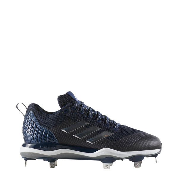 adidas poweralley 5 metal fast pitch softball cleats navy blue silver white b39220 women's womens power alley cleat