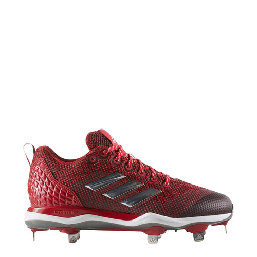 adidas poweralley 5 metal fast pitch softball cleats power red silver white b39219 women's womens power alley cleat