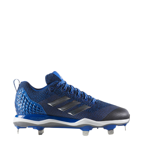 adidas poweralley 5 metal fast pitch softball cleats royal blue silver white b39221 women's womens power alley cleat