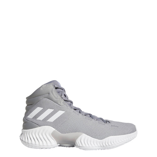 adidas pro bounce 2018 mid basketball shoe light onix grey gray white black ah2665 men mens men's shoes