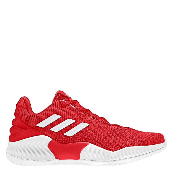 adidas pro bounce 2018 low basketball shoe red white scarlet ah2674 men men's mens team shoes
